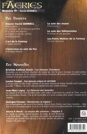 Faeries 11 David Gemmel - 4ème de couverture - Format classique