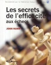 Les secrets de l'efficacité aux échecs - Couverture - Format classique