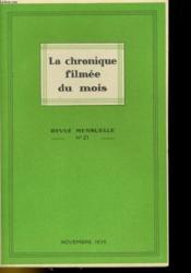 La Chronique Filmee Du Mois N°21 - Couverture - Format classique