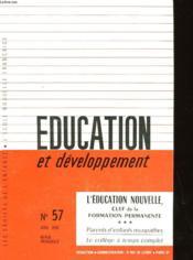 Education Et Developpement N°57 - Couverture - Format classique