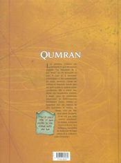 QUMRAN. Tome I : Le rouleau du Messie - 4ème de couverture - Format classique