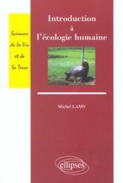 Introduction A L'Ecologie Humaine - Couverture - Format classique