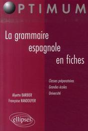 La grammaire espagnole en fiches (2e édition) - Intérieur - Format classique
