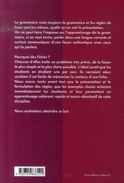 La grammaire espagnole en fiches (2e édition) - 4ème de couverture - Format classique