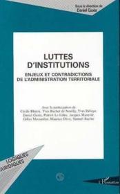 Luttes d'institutions - Couverture - Format classique
