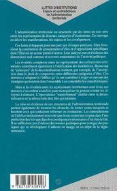 Luttes d'institutions - 4ème de couverture - Format classique