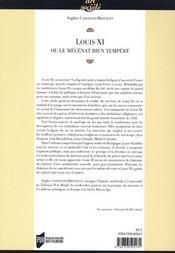Louis XI et le mécénat bien temperé - 4ème de couverture - Format classique