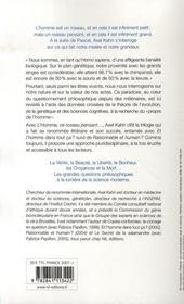 L'homme, ce roseau pensant... ; essai sur les racines de la nature humaine - 4ème de couverture - Format classique