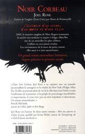 Noir Corbeau - 4ème de couverture - Format classique