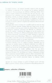 La Noblesse De L'Empire Romain - 4ème de couverture - Format classique