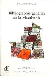 Bibliographie générale de la Mauritanie - Couverture - Format classique
