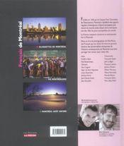Francais de montreal - 4ème de couverture - Format classique
