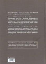 L'Histoire De Belgique Au Fil De La Bd - 4ème de couverture - Format classique