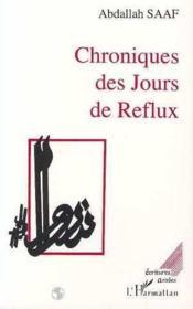 Chroniques des jours de reflux - Couverture - Format classique