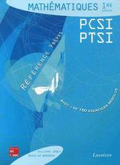 Mathematiques 1re Annee Pcsi Ptsi Reference Prepas - Intérieur - Format classique