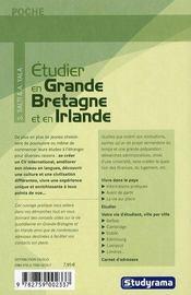 Étudier en Grande Bretagne et en Irlande - 4ème de couverture - Format classique