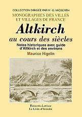 Altkirch Au Cours Des Siecles - Couverture - Format classique
