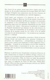 Verdi Par Verdi - 4ème de couverture - Format classique