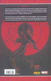 Daredevil t.2 ; chemin de croix - 4ème de couverture - Format classique