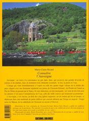Connaître l'Auvergne - 4ème de couverture - Format classique