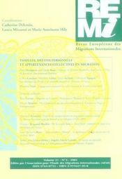 Revue Europeenne Des Migrations Internationales - Intérieur - Format classique