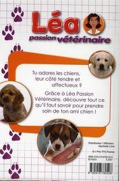 Lea passion veterinaire les chiens - 4ème de couverture - Format classique