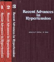 Recent Advances In Hypertension (En 3 Volumes). Volume 3: Workshops Of The Symposium. Monaco, 23-26 April 1975. - Couverture - Format classique