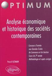 Analyse Economique Et Historique Des Societes Contemporaines Gdes Ecoles De Commerce Cours 2e Annee - Intérieur - Format classique