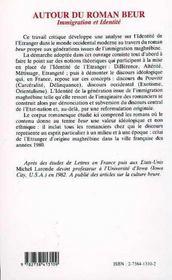 Autour Du Roman Beur ; Immigration Et Identite - 4ème de couverture - Format classique