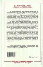 Photographie (La) Un Miroirdes Sciences Sociales - 4ème de couverture - Format classique
