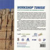Workshop Tunisie - 4ème de couverture - Format classique