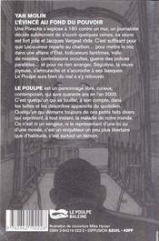 L Evince Au Fond Du Pouvoir - 4ème de couverture - Format classique