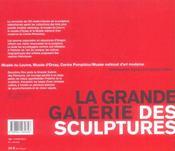 La Grande Galerie Des Sculptures - 4ème de couverture - Format classique