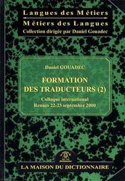 Formation traducteur t.2 ; en bons termes 2000 - Intérieur - Format classique
