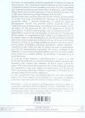 Invention Des Dechets Urbains (L') - 4ème de couverture - Format classique