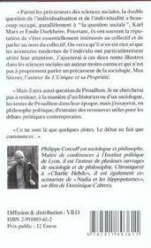 Question Individualiste (La) - 4ème de couverture - Format classique