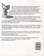 Échecs : le test - 4ème de couverture - Format classique