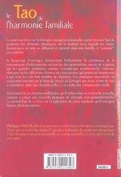 Tao De L'Harmonie Familiale - 4ème de couverture - Format classique