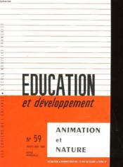 Education Et Developpement N°59 - Couverture - Format classique
