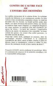 Contes De L'Autre Face Ou L'Envers Des Destinees - 4ème de couverture - Format classique