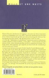Les sots - 4ème de couverture - Format classique