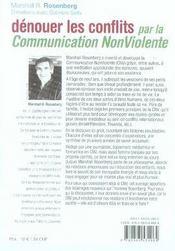 Dénouer les conflits par la communication non violente - 4ème de couverture - Format classique