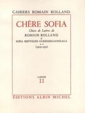 Chère Sofia. - Couverture - Format classique