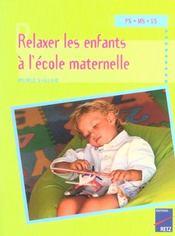 Relaxer les enfants à l'école maternelle - Intérieur - Format classique
