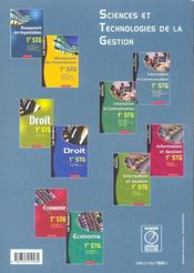 Stg ; Information Et Communication ; Specialite Communication - 4ème de couverture - Format classique