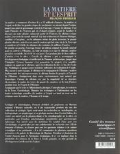 La Matiere Et L'Esprit ; Le Silicium ; De La Naissance De L'Univers A L'Univers Des Hautes Technologies - 4ème de couverture - Format classique