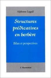 Structures prédicatives en berbère ; bilan et perspectives - Couverture - Format classique
