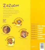 Zazoom Et Le Lion - 4ème de couverture - Format classique