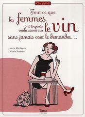 Tout ce que les femmes ont toujours voulu savoir sur le vin sans jamais oser le demander... - Intérieur - Format classique