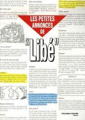 Les petites annonces de libé - Intérieur - Format classique
